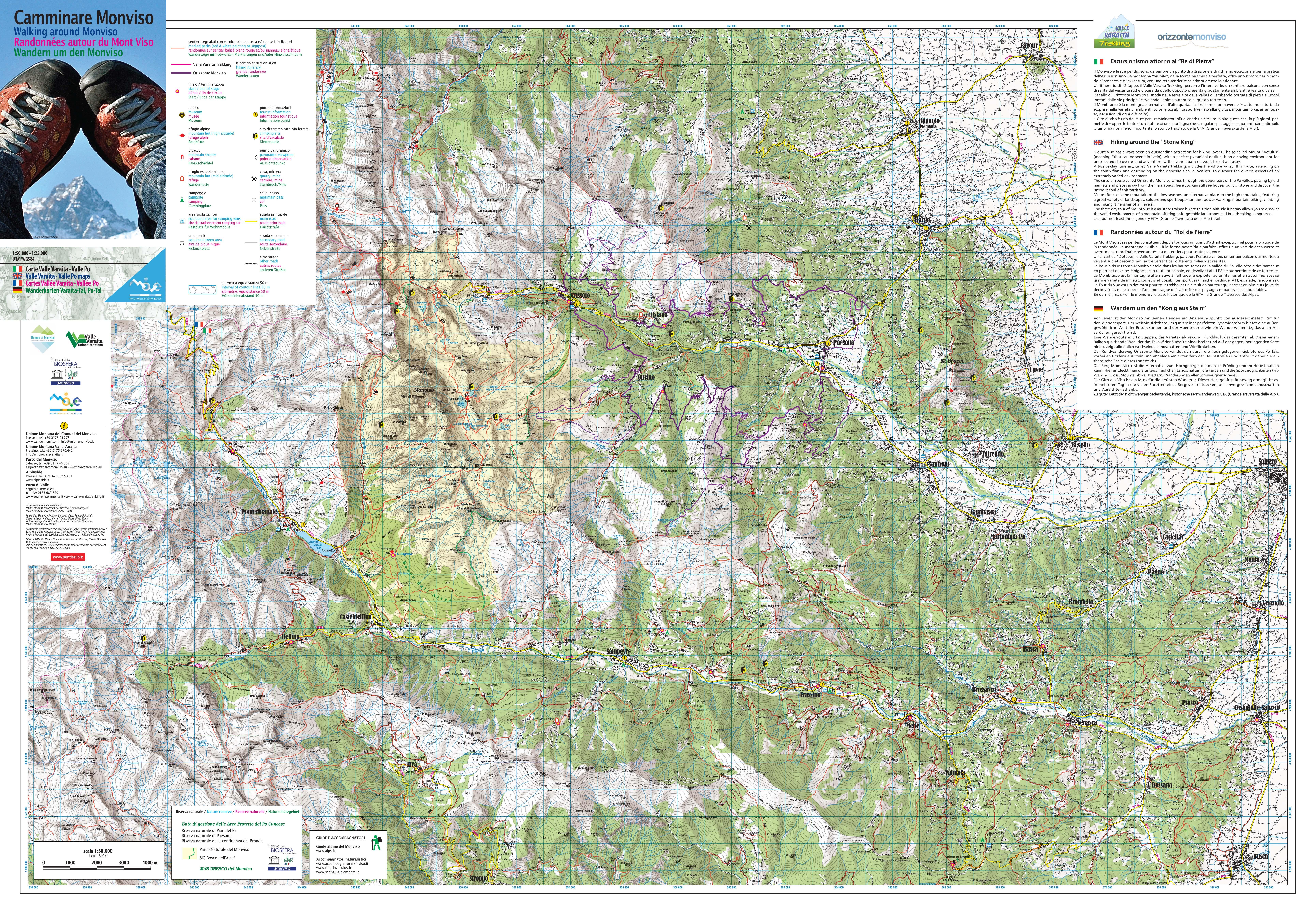 Cartina Militare Piemonte.Cartine Geografiche E Turistiche Della Valle Po E Crissolo