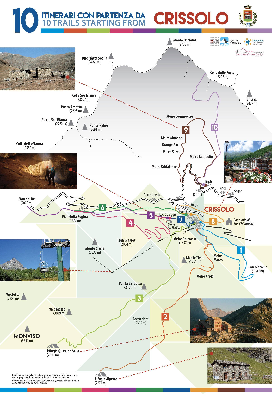 Cartina Dettagliata Piemonte.Cartine Geografiche E Turistiche Della Valle Po E Crissolo